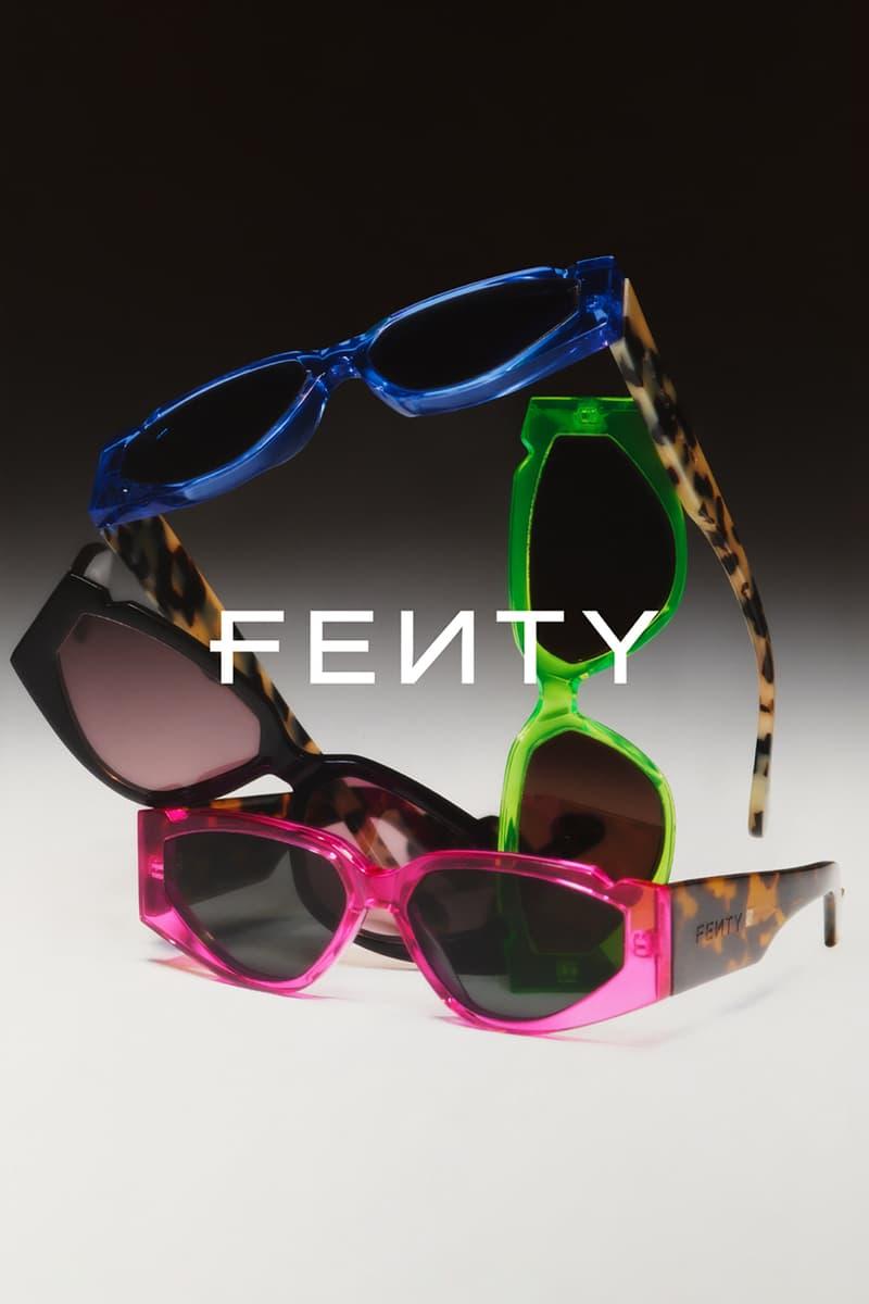 fenty rihanna eyewear sunglasses collection vintage blue pink green black cheetah print