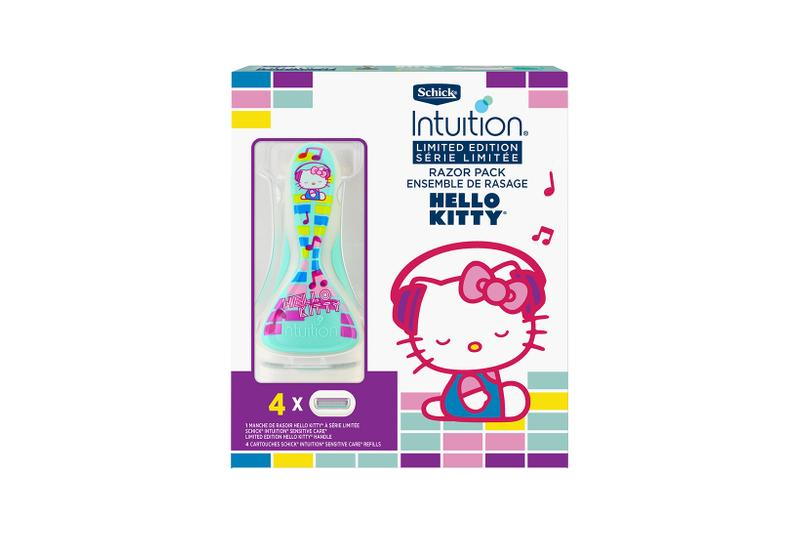hello kitty sanrio schick intuition collaboration limited edition razors pure nourishment sensitive green purple