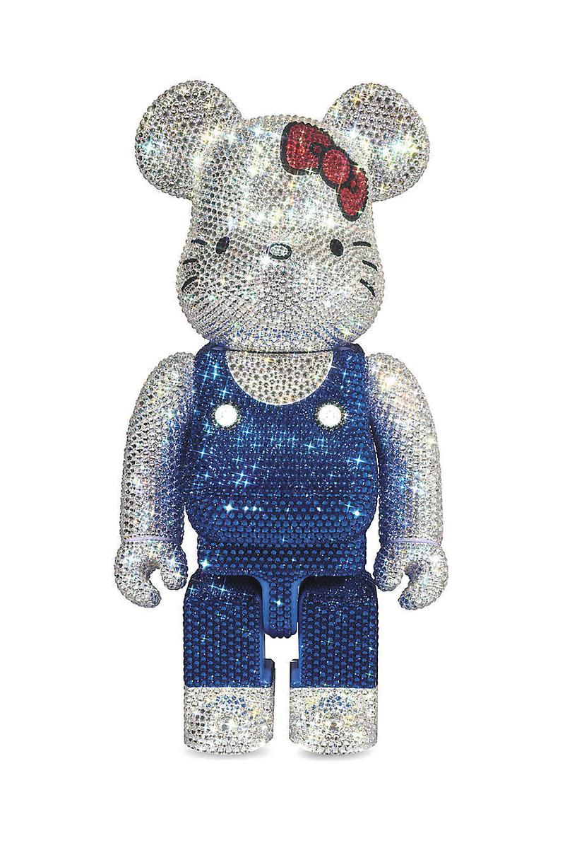 BEARBRICK Hello Kitty Swarovski Crystal Toy 400% Luxury