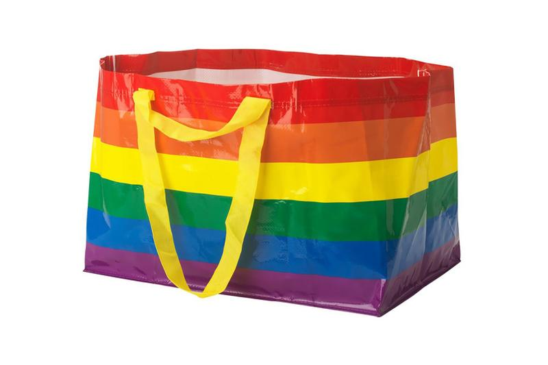 ikea frakta bag pride month international day against homophobia transphobia biphobia lgbtq rainbow flag