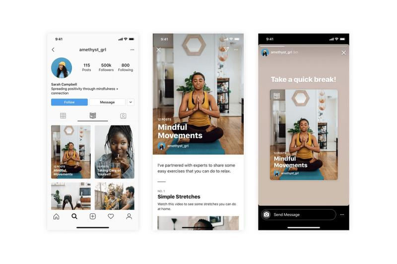 Instagram Guides Feature Wellness Mental Health App Mobile Launch