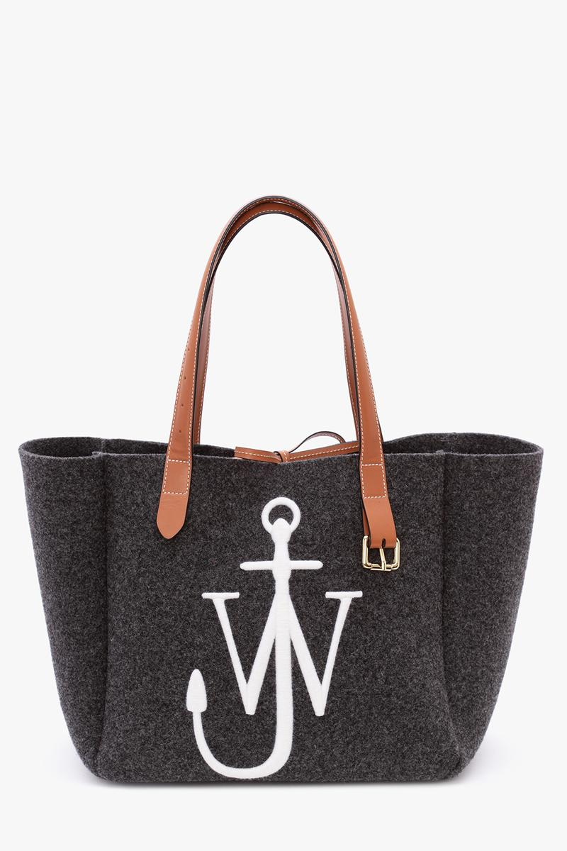 jw anderson belt tote bag fall winter collection black blue orange brown