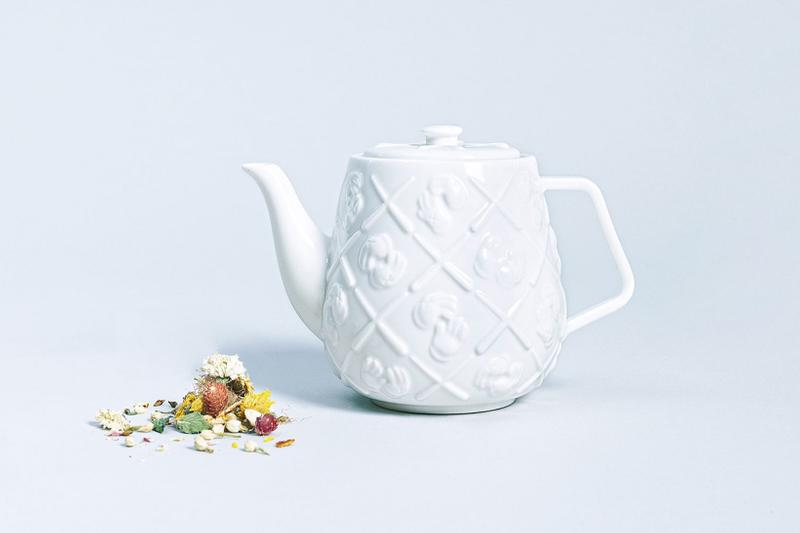 kaws allrightsreserved collaboration xx monogram teapot homeware brian donnelly