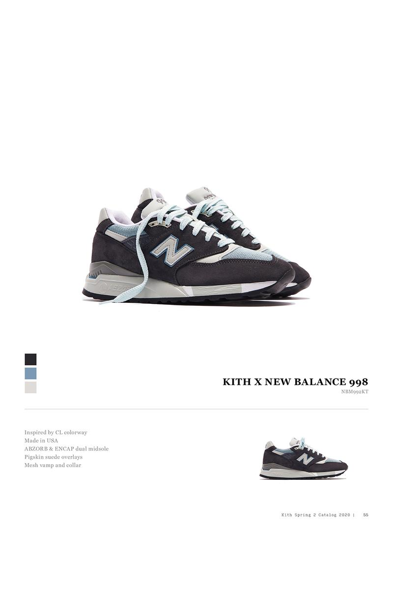 KITH New Balance 992 998 Collaboration Spring Summer 2020 Collection Catalogue