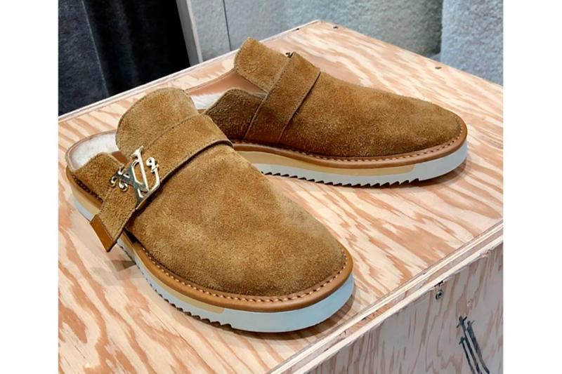 louis vuitton nigo virgil abloh lv slip on mules brown designer shoes footwear