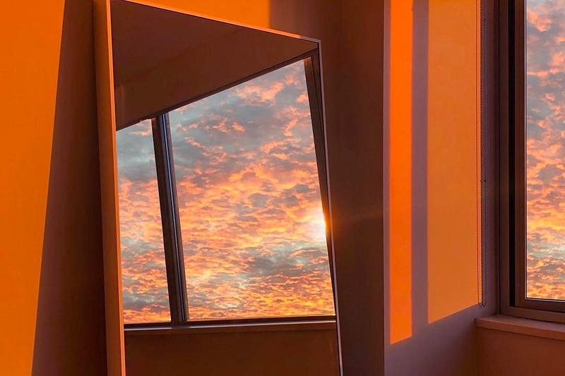 Sunset Home Sky Clouds Mirror