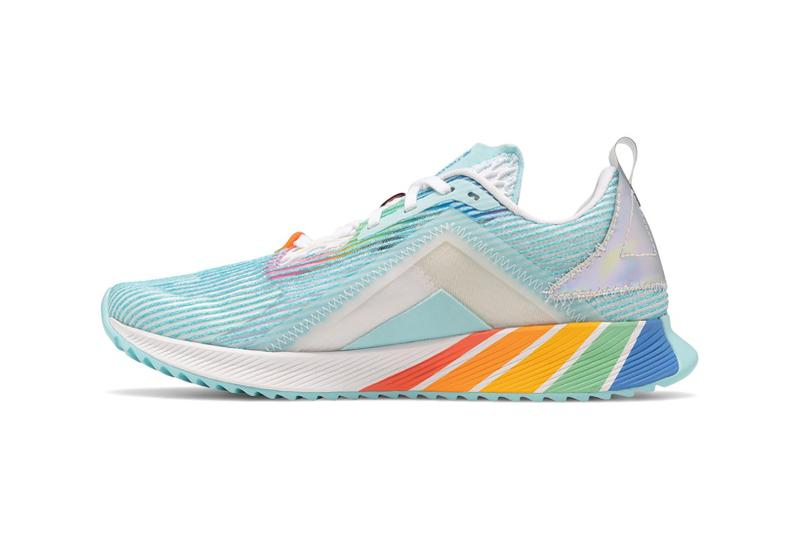 new balance pride lgbtq pack collection 327 fuelcell echo sneakers rainbow colorway white blue red purple orange green shoes footwear sneakerhead