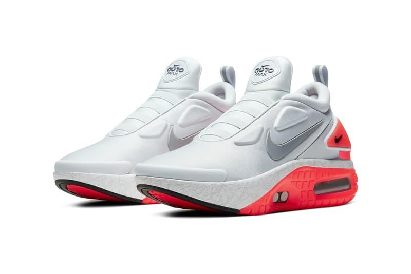 Nike Adapt Auto Max Sneaker Grey Orange