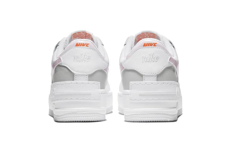 Nike Air Force 1 Shadow Photon Dust/Pink Foam Sneaker Trainer Release Footwear Logo Retro