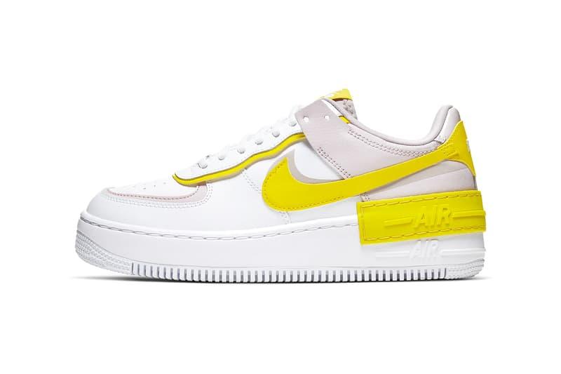 nike air force 1 shadow womens sneakers yellow nude pink white shoes footwear sneakerhead