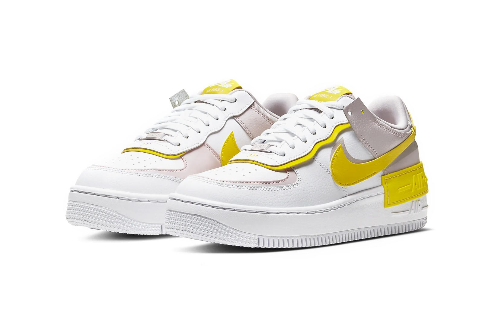 Nike Air Force 1 Shadow Yellow/Nude