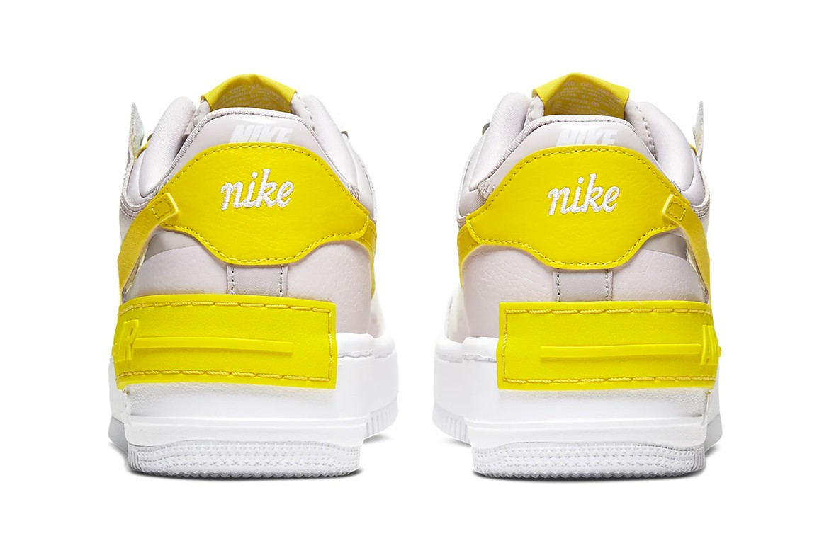 Nike Air Force 1 Shadow Yellow Nude Pink Release Hypebae Originally released in '82 under the name 'air force' and designed by one of nike's top designers, bruce kilgore, the sneaker was initially. nike air force 1 shadow yellow nude