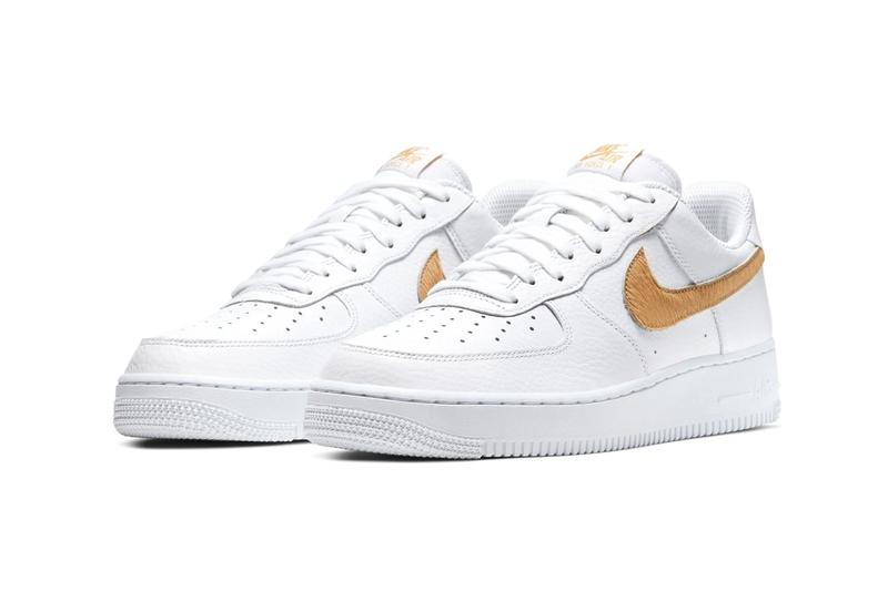 Nike Air Force 1 Animal Print Swoosh Snake Skin Blue Gold Cow Hair Design Release