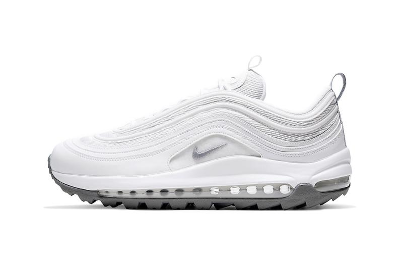 nike air max 97 g golf sneakers triple white colorway sneakerhead shoes footwear
