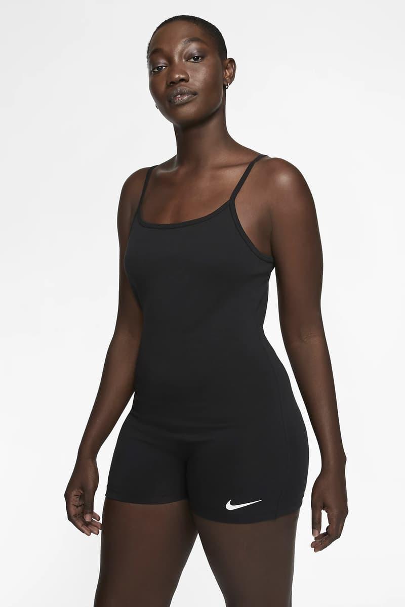 Nike Logo Bodysuit Black White Minimal Apparel