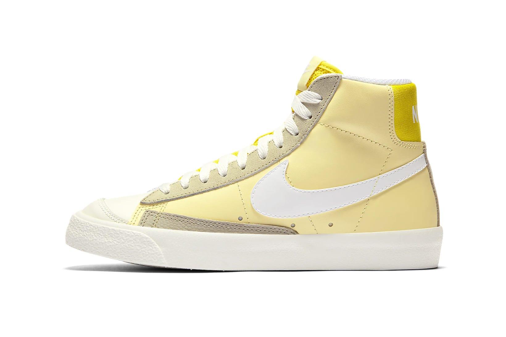 nike blazer white yellow