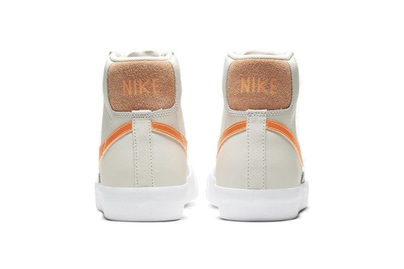 """Nike Blazer Mid """"Total Orange"""" Sneaker Release Beige Retro Trainer Shoe"""