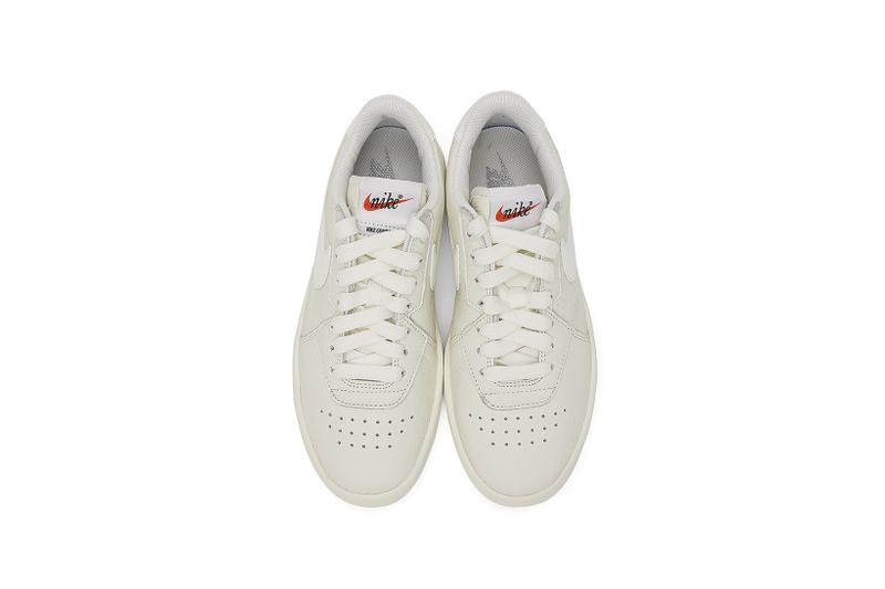 ssense nike leather court blanc minimalist white sneaker exclusive womens where to shop