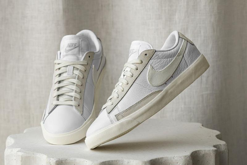 nike sportswear platinum tint pack air force 1 low blazer mid 77 vintage court squash-type sneakers release info
