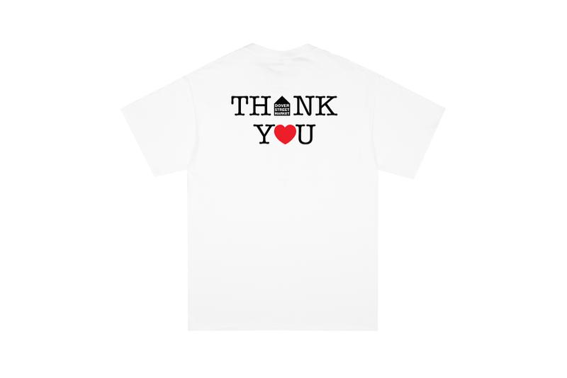 noah dover street market collaboration thank you core logo t shirt coronavirus covid 19 pandemic relief donation charity