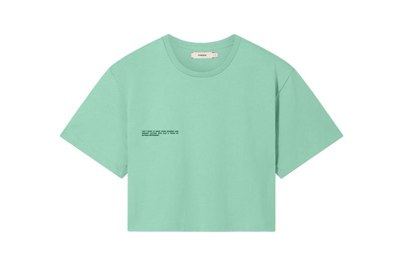 Pangaia Seaweed Family Collection Crop T-Shirt Mint