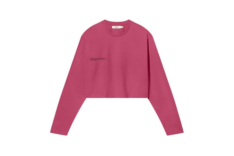 Pangaia Seaweed Family Collection Long Sleeve Crop Cherry