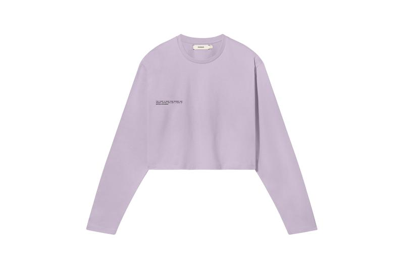 Pangaia Seaweed Family Collection Long Sleeve Crop Lavender