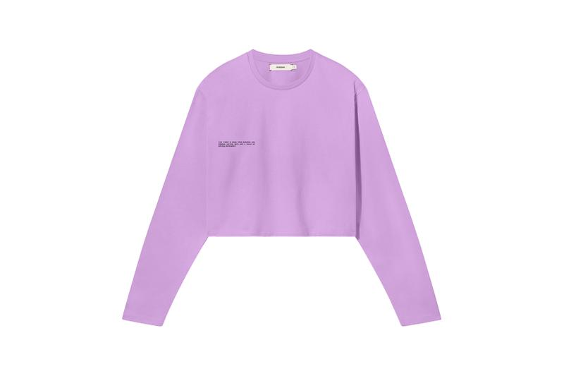 Pangaia Seaweed Family Collection Long Sleeve Crop Pink Sky
