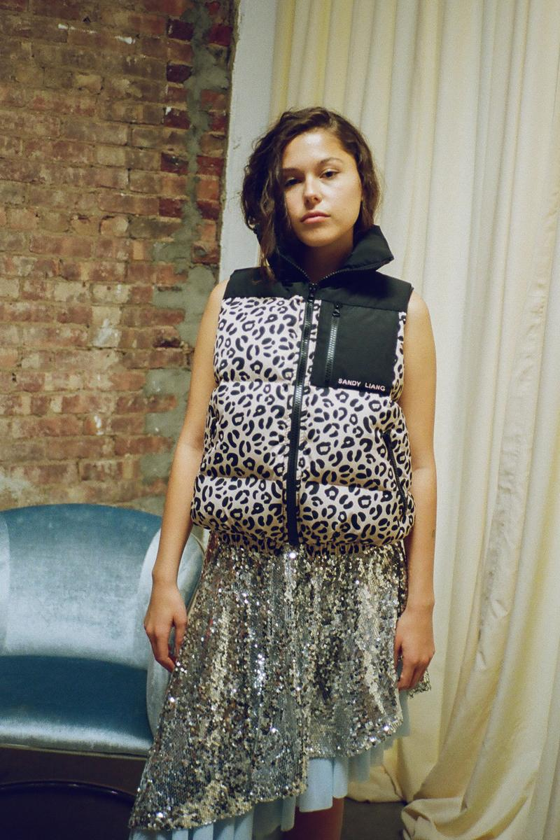 Sandy Liang Paws Vest Puffer Leopard