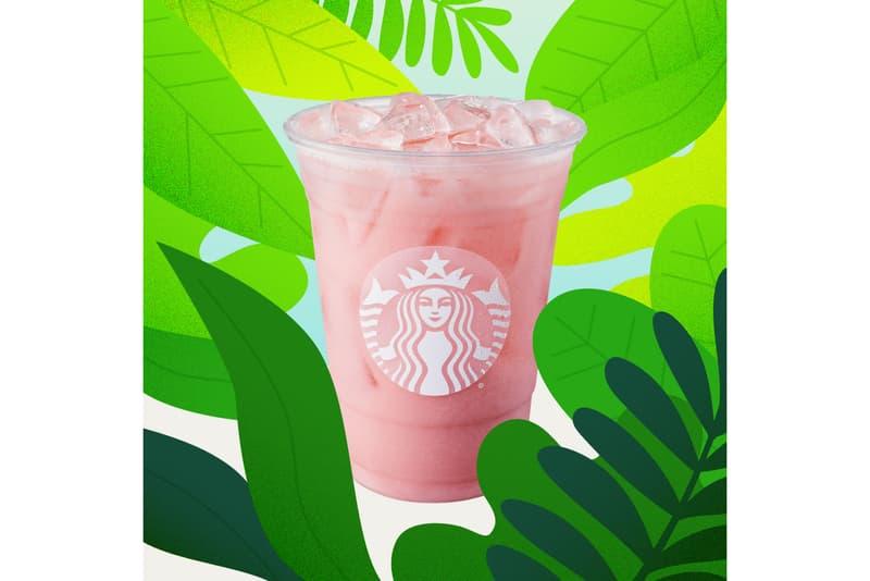 starbucks iced guava passionfruit coconut milk pink summer drink beverage