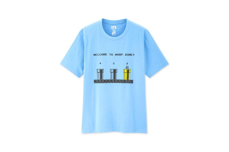 Super Mario Bros. x UNIQLO UT Collaboration Collection T-Shirt Navy White