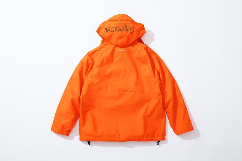 supreme barbour spring summer collaboration jackets outerwear black orange leopard print fashion