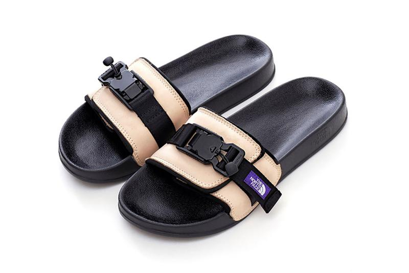 the north face purple label sandals brown beige black knit leather buckled shoes footwear