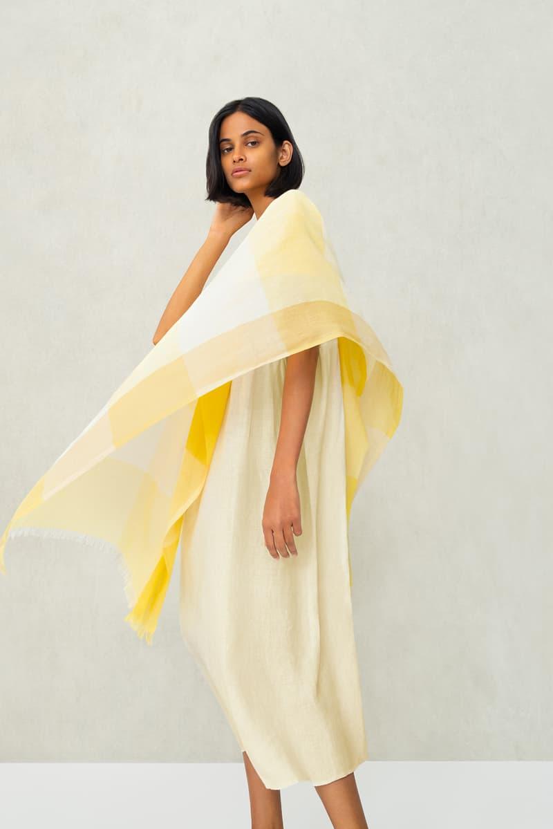 uniqlo kurta rina singh spring summer collaboration lifewear india dresses pants yellow white black sandals