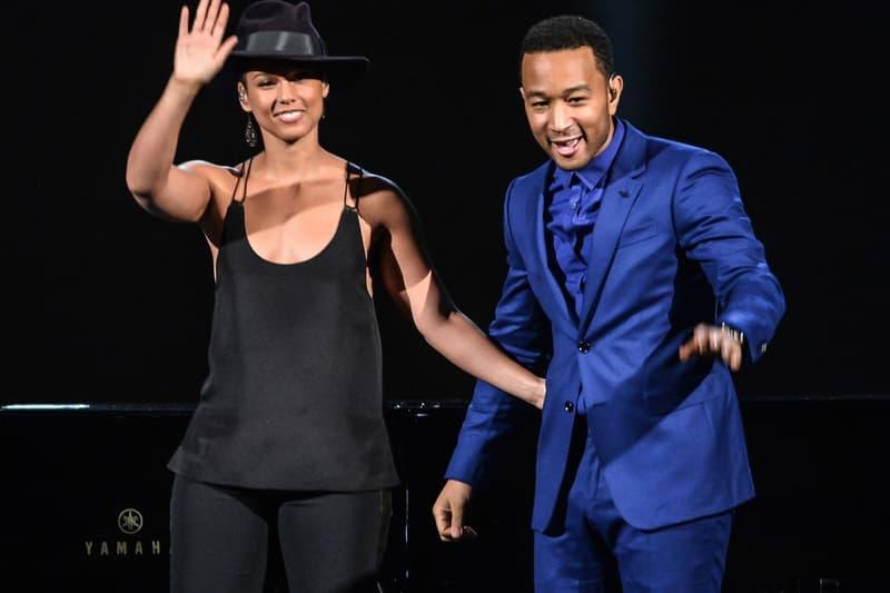 Alicia Keys John Legend Grammy Awards 2015