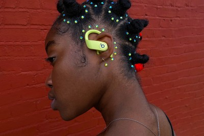Keash Creates 4 Bold Hairstyles Inspired by the Summer Colorways of Apple's Powerbeats Pro