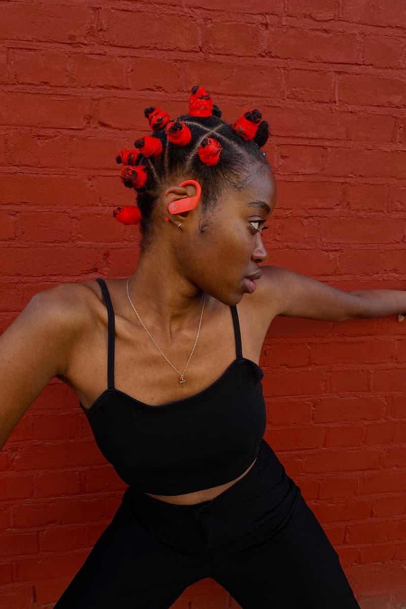 apple beats by dr dre powerbeats pro keash collaboration wireless earphones hairstyle