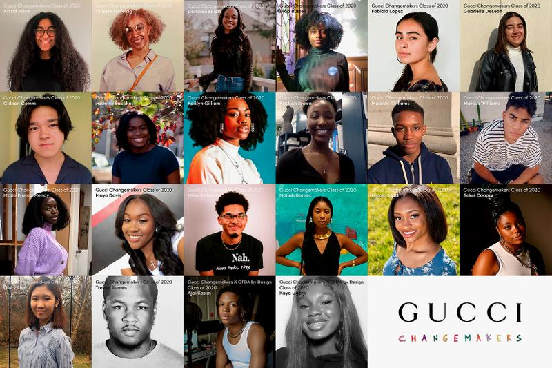 gucci north america changemakers scholars first class mentorship virtual internship academics education youth