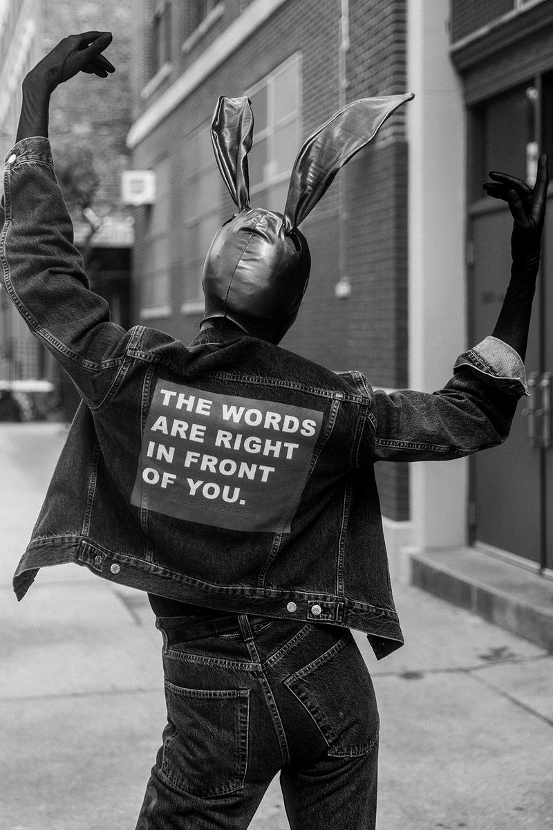helmut lang willie norris collaboration jackets hoodies jeans repurposed sustainability black lives matter donation