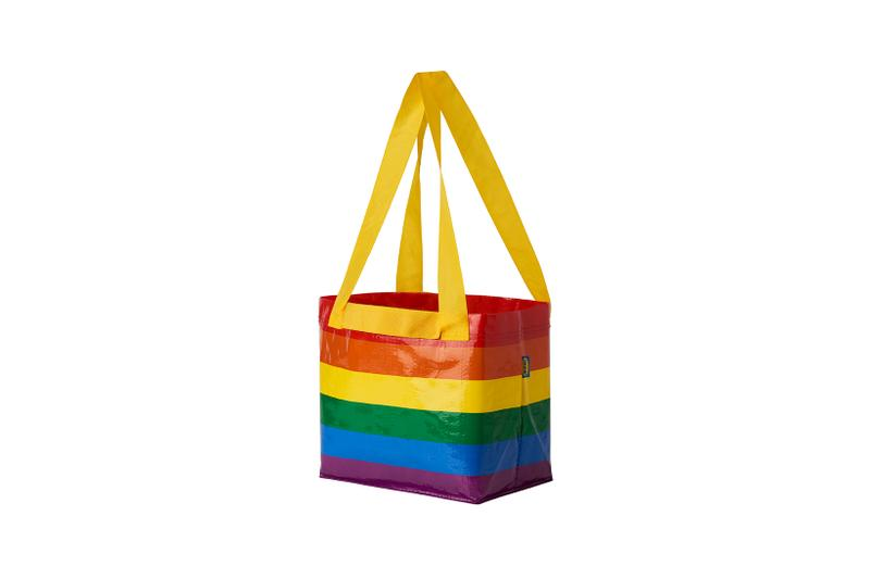 ikea united states pride month collection storstomma rainbow lunch large bag lgbtq donation charity homeless