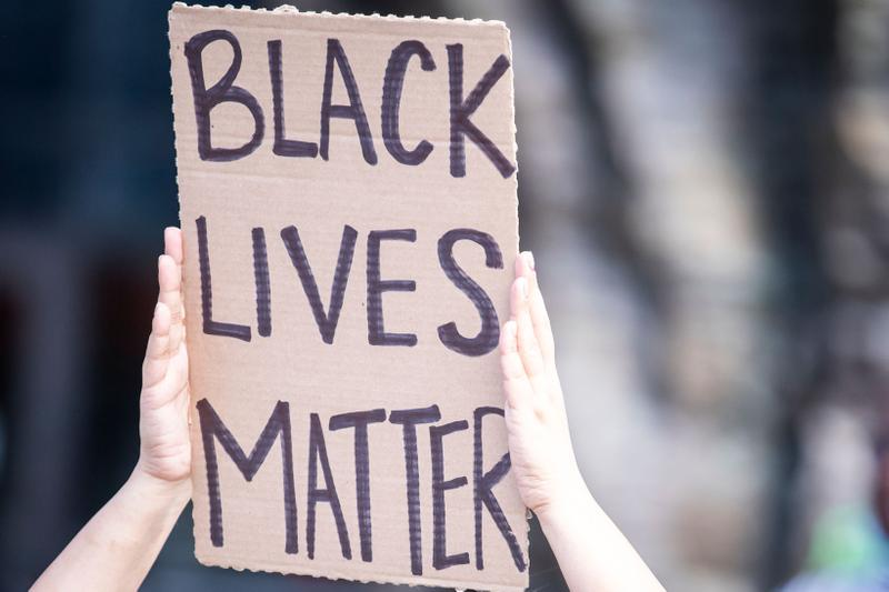 Black Lives Matter Protest Sign New York City