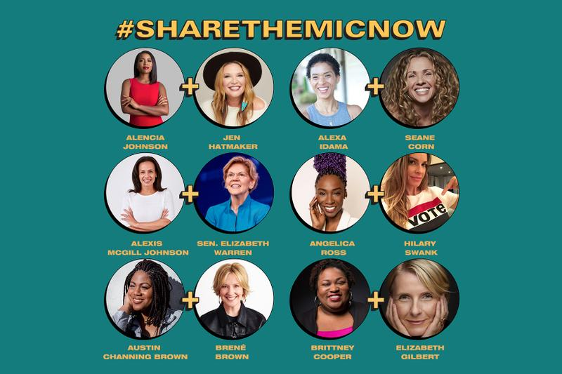 sharethemicnow social media instagram takeover campaign black white women celebrities activists