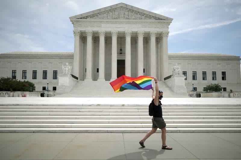 Pride Flag U.S. Supreme Court Building LGBTQ Job Work Discrimination Ruling