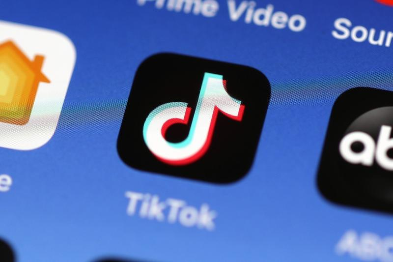 TikTok App Logo Phone Screen