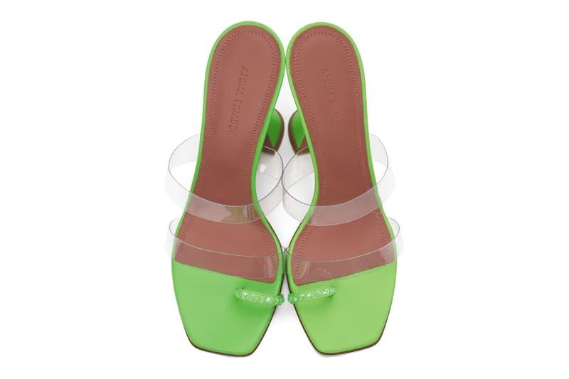 amina muaddi ssense sandals heels slippers mules release price