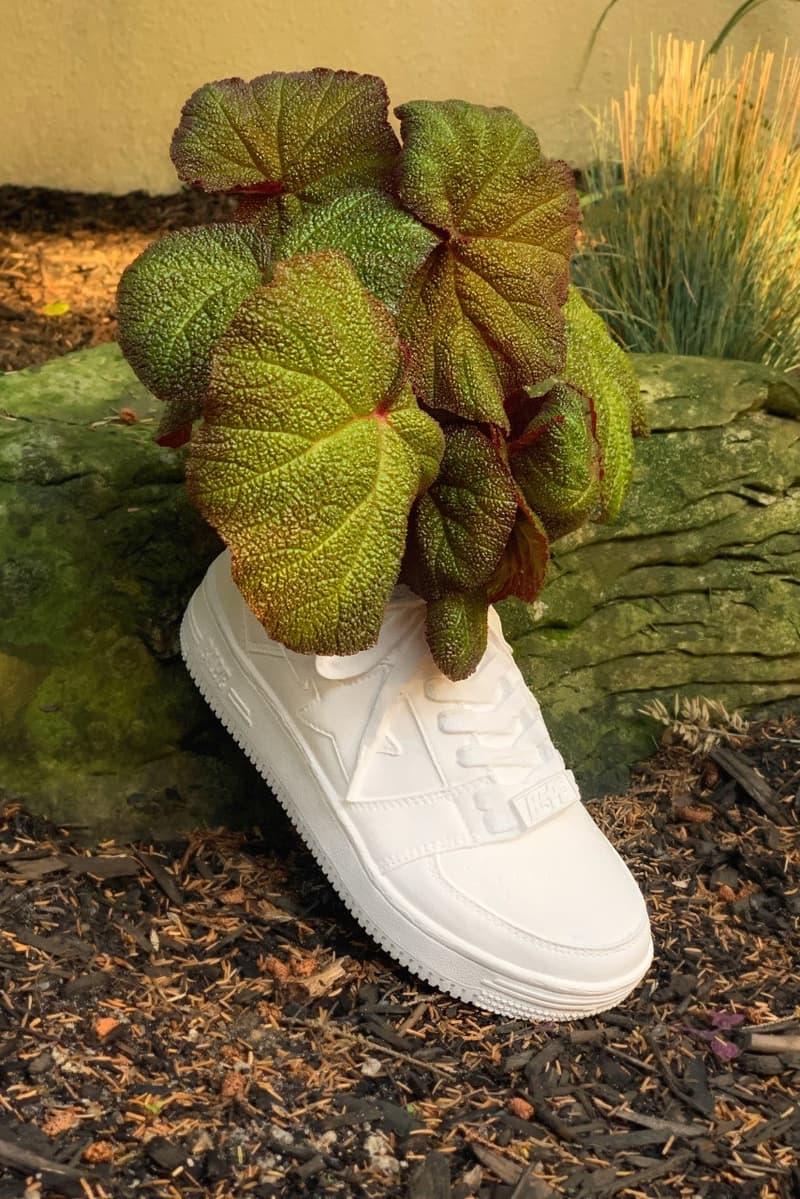 BAPE x Bodega Rose BAPE STA Sneaker Planter Plant Pot Vase White