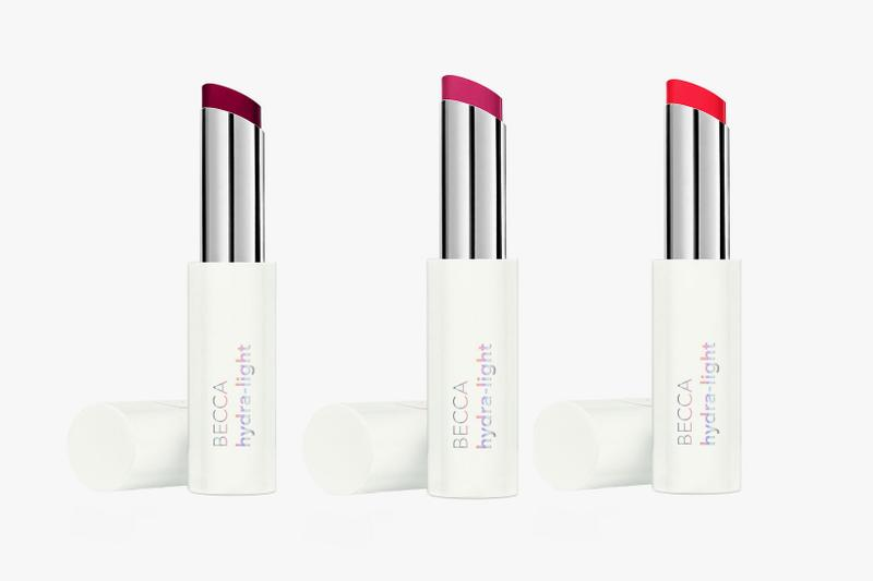 becca cosmetics new hydra light plumping lip balm gleam primer liquid eyeshadow release price