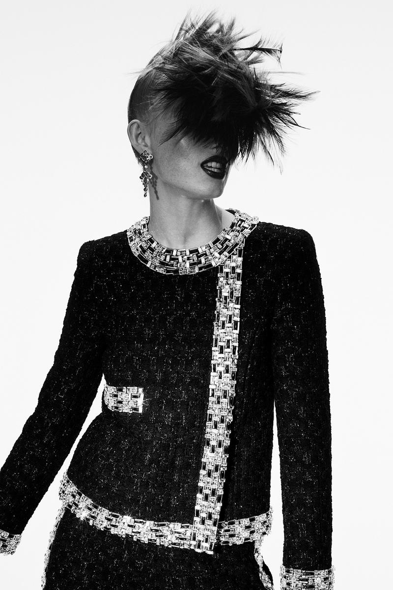 chanel fall paris haute couture collection virginie viard karl lagerfeld adut akech rianne van rompaey dresses tweed embroidery