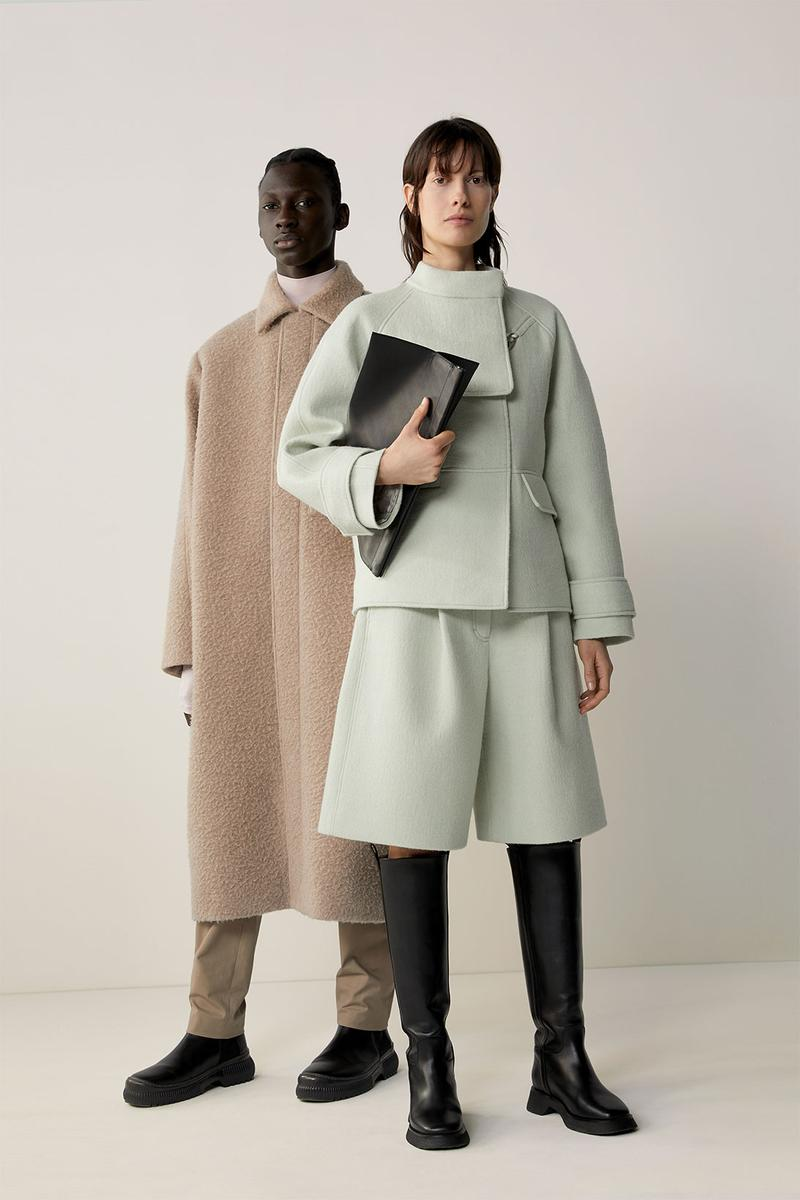 cos fall winter womenswear lookbook minimalistic sustainability dresses bags suits