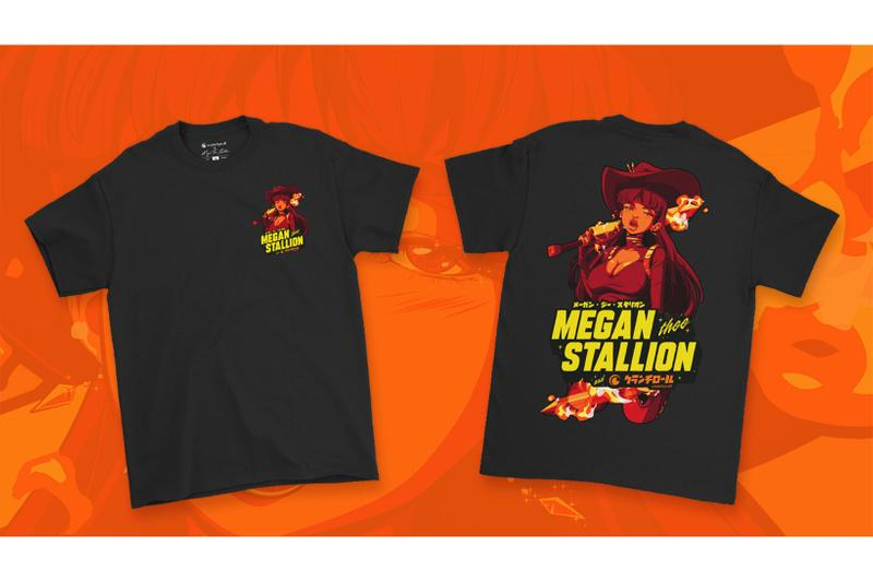 megan thee stallion crunchyroll loves anime merch streetwear collaboration release info price
